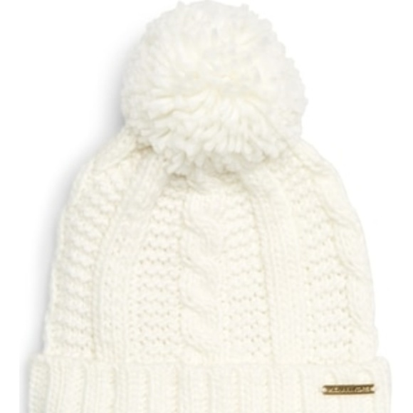 3f989697a9ffa Michael Kors Pompom Cable Knit Beanie